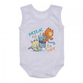 Imagem - Body Regata Bebê Lapuko - 10255-body-regata-milk-cat