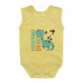 Imagem - Body Bebê Regata Estampado Lapuko - 10224-body-regata-dino-amarelo