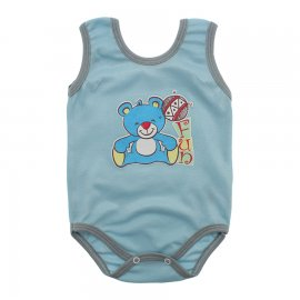 Imagem - Body Regata em Ribana Lapuko - 10115-body-regata-ribana-azul-bebe
