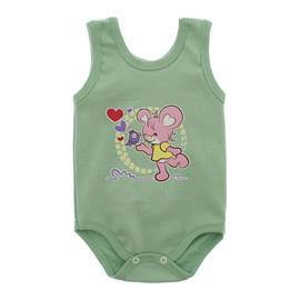 Imagem - Body Regata Estampado - 10088-body-regata-menina-verde-bebe
