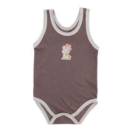 Imagem - Body Regata para Bebê Lapuko - 10011-body-regata-lapuko-marrom-cre