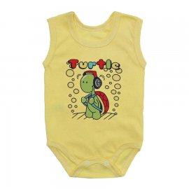 Imagem - Body Bebê Regata Estampado Lapuko - 10224-body-regata-turtle-amarelo