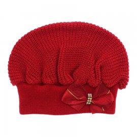 Imagem - Boina para Bebê em tricot - 10119-boina-bebe-vermelha