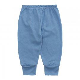 Imagem - Calça para Bebê Canelada Lapuko - 10238-calca-canelada-azul-bebe