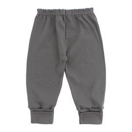 Imagem - Calça com Pé Reversível para Bebê - 10041-calça-pe-rev-rib-cinza