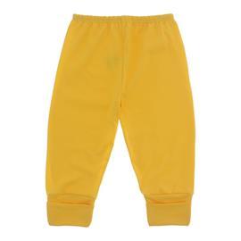 Imagem - Calça de Bebê com Pé Reversível Lapuko - 10060-calça-rev.malha-amarelo