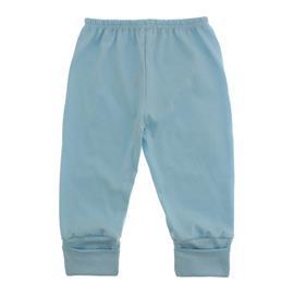 Imagem - Calça de Bebê com Pé Reversível Lapuko - 10060-calça-rev.malha-azul