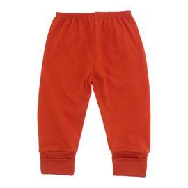 Imagem - Calça de Bebê com Pé Reversível Lapuko - 10060-calça-rev.malha-laranja