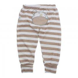 Imagem - Calça de Bebê Listrada - 10143-calça-listrada-bege