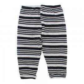 Imagem - Calça de Bebê Ribana Listrada Lapuko - 10058-calça-rib-listrada-preto-bco