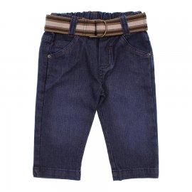 Imagem - Calça Jeans Infantil Menino com Cinto  - 6338 Calca Jeans  azul