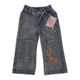 Imagem - Calça Jeans Infantil Feminina Bordada Chicote - 9837 - 9837-calça-jeans-chicote