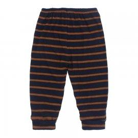 Imagem - Calça para Bebê Listrada Lapuko - 10168-calça-punho-marinho-marrom