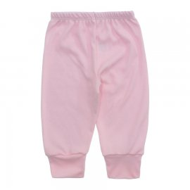 Imagem - Calça para Bebê Canelada Lapuko - 10238-calça-canelada-rosa-bebe