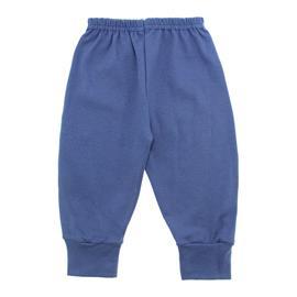 Imagem - Calça para Bebê com Punho Lapuko - 10087-calça-com-punho-azul-medio