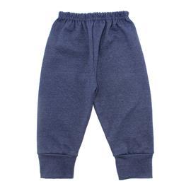 Imagem - Calça para Bebê com Punho Lapuko - 10087-calça-com-punho-azul-mescla