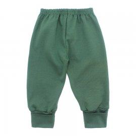 Imagem - Calça para Bebê com Punho Lapuko - 10087-calça-com-punho-verde-medio