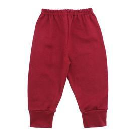 Imagem - Calça para Bebê com Punho Lapuko - 10087-calça-com-punho-vermelho