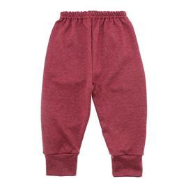 Imagem - Calça para Bebê com Punho Lapuko - 10087-calça-punho-lapuko-vermelho-m