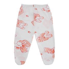 Imagem - Calça para Bebê de Ribana Estampada - 10050-calça-ribana-urso-laranja