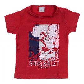 Imagem - Camiseta Infantil para Menina Ballet - 6757-vermelho