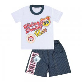 Imagem - Camiseta e Bermuda para Menino Race  - 4836 - Branco