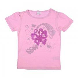 Imagem - Camiseta Infantil com Borboleta Color Mini  - 6760rosa