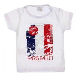 Imagem - Camiseta Infantil para Menina Ballet - 6757-branco