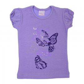 Imagem - Camiseta Manga Curta para Menina Color Mini 6766 - 6766-lilas