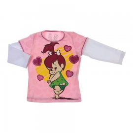 Imagem - Camiseta Infantil Pedrita 6170 - 6170-rosa
