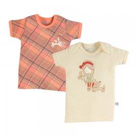 Camiseta para bebê Zigmundi kit 2 peças