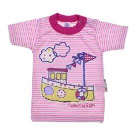 Imagem - Camiseta de Bebê Menina Listrada - 6479-Camiseta de Bebê Menina Listra