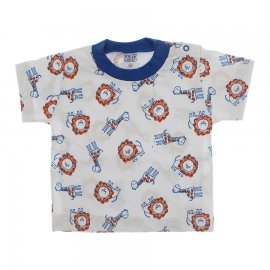 Imagem - Camiseta de Bebê - 10123-camiseta-zoo-azul