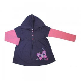 Imagem - Blusa Infantil com Capuz Bambini - 6901-cinza