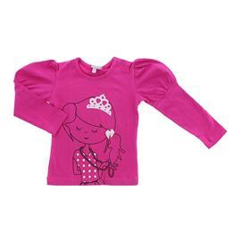 Imagem - Camiseta de Manga Longa Infantil Mini 6763 - 6763pink