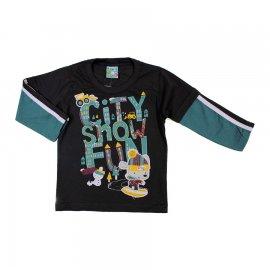 Imagem - Camiseta Infantil Menino Manga Longa  - 6118