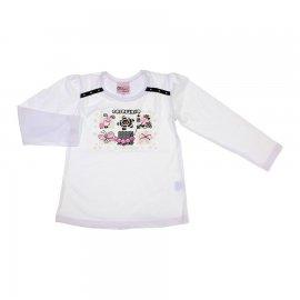 Imagem - Camiseta Infantil Menina Colorindo o Planeta - 6762-branco
