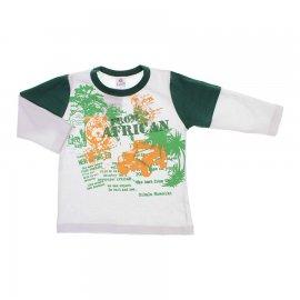 Imagem - Camiseta Infantil Manga Longa  - 6043 - Africa/Branco