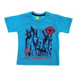 Imagem - Camiseta Infantil de Menino Manga Curta  - 6028-young-azul