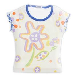 Imagem - Camiseta com Estampa Floral - Infantil - cod. 8007 - 8007mod1