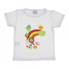 Camiseta Infantil Arco Iris Color Mini