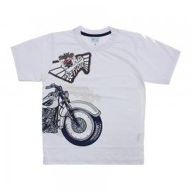 Imagem - Camiseta Infantil de Menino Manga Curta  - 6028-roadbranco