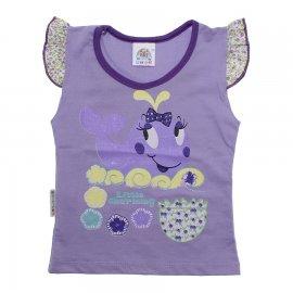 Imagem - Camiseta Infantil Menina  - 4846-camiseta-menina-baleia-lilas