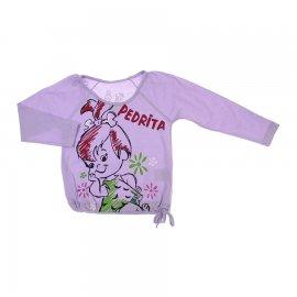Imagem - Camiseta Infantil Menina Pedrita - 6148-lilas