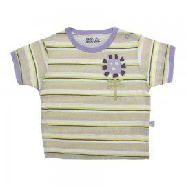 Imagem - Camiseta Listrada Flor Lilás - 10163-camiseta-listrada-flor-lilas