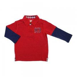 Imagem - Camiseta Infantil Manga Longa Polo 5866 - 5866 - Vermelho