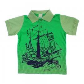Imagem - Camiseta de Menino Infantil Gola Polo  - 6029-barco