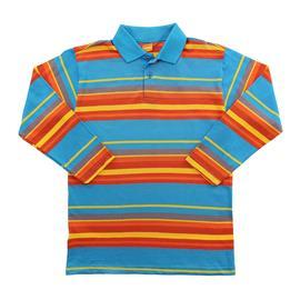 Imagem - Camiseta Polo Infantil Listrada Marisol  - 8453-camiseta-polo-azul-laranja