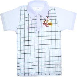 Imagem - Camiseta Polo de Malha Manga Curta Bam Bam - 5761 - Branco