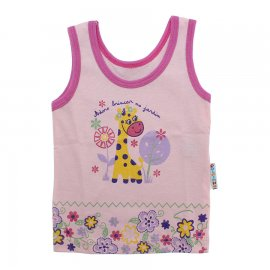 Imagem - Camiseta Regata para Bebê Girafa - 10123-regata-girafa-rosa